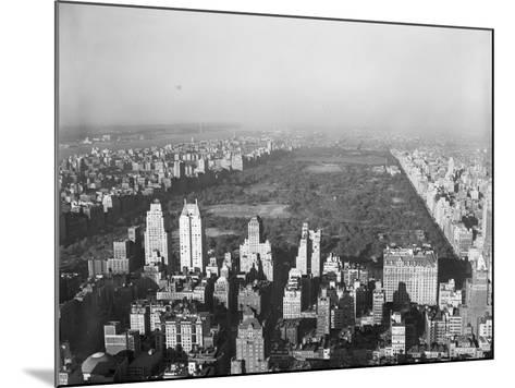 Aerial View of Central Park--Mounted Photographic Print