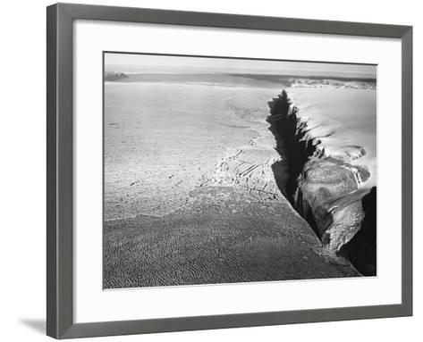 Peterman Glacier in Greenland--Framed Art Print