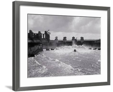 Construction of the Panama Canal--Framed Art Print