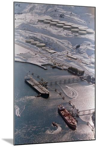 Aerial of Ships Docked in Port of Valdez--Mounted Photographic Print