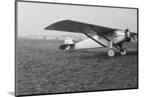 View of Charles Lindbergh's Airplane the Spirit of St. Louis--Mounted Photographic Print