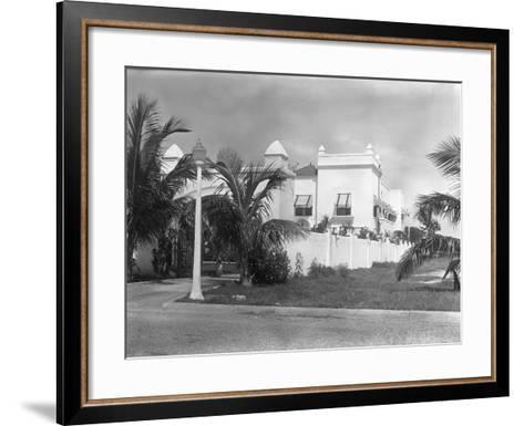 Exterior of Al Capone's Home--Framed Art Print