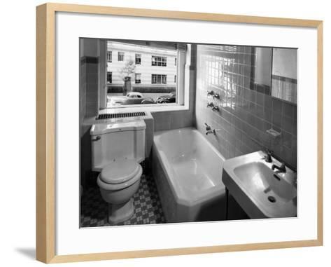 Window View from Earlier Modernized Bathroom-Philip Gendreau-Framed Art Print