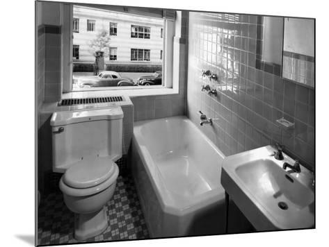 Window View from Earlier Modernized Bathroom-Philip Gendreau-Mounted Photographic Print