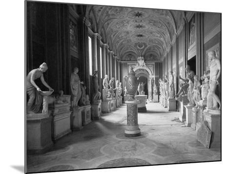 Statuary Gallery at the Vatican Museum--Mounted Photographic Print