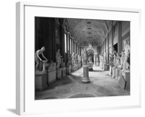 Statuary Gallery at the Vatican Museum--Framed Art Print