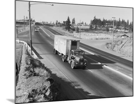 Truck Transporting Delivery to Safeway-Ray Krantz-Mounted Photographic Print