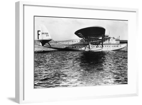 View of Seaplane Lieutenant De Vaisseau Paris--Framed Art Print