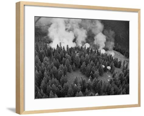 Firejumpers in Lolo National Forest-W.E. Steuerwald-Framed Art Print