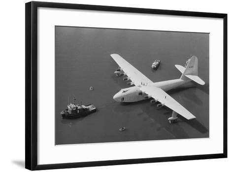 Howard Hughes' Spruce Goose--Framed Art Print
