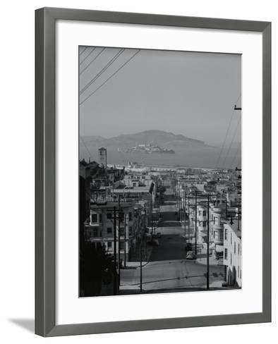 View of Alcatraz Island from Russian Hill-Philip Gendreau-Framed Art Print