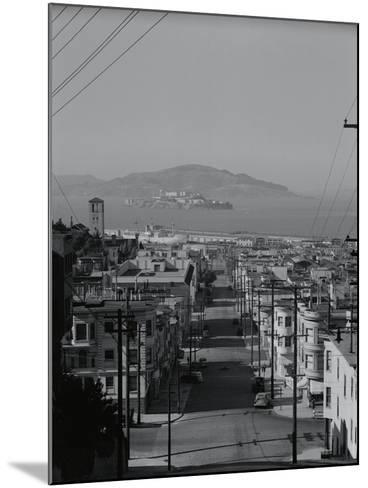 View of Alcatraz Island from Russian Hill-Philip Gendreau-Mounted Photographic Print