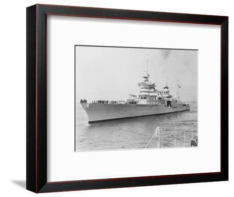 USS Indianapolis at Sea--Framed Art Print