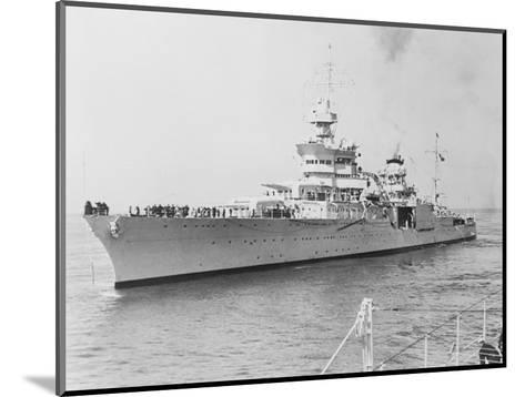 USS Indianapolis at Sea--Mounted Photographic Print