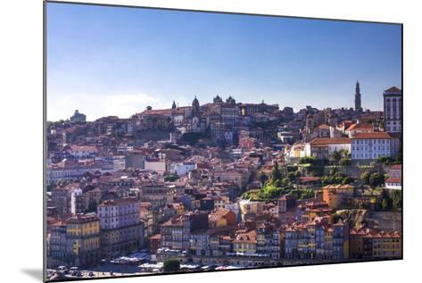 Oporto/Porto Rio Duero District of Colorful Buildings-Terry Eggers-Mounted Photographic Print