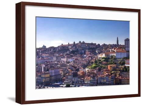 Oporto/Porto Rio Duero District of Colorful Buildings-Terry Eggers-Framed Art Print