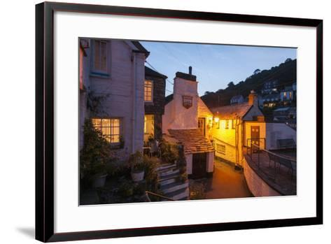 Polperro is a Village with Beautiful Ancient Houses along a Canal-Guido Cozzi-Framed Art Print