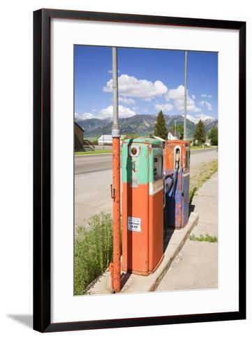 Multi-Colored Antique Gas Tanks, Idaho-Joseph Sohm-Framed Art Print