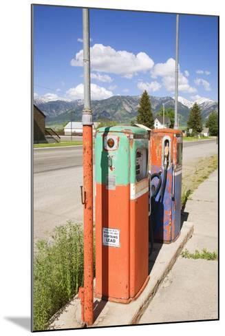 Multi-Colored Antique Gas Tanks, Idaho-Joseph Sohm-Mounted Photographic Print