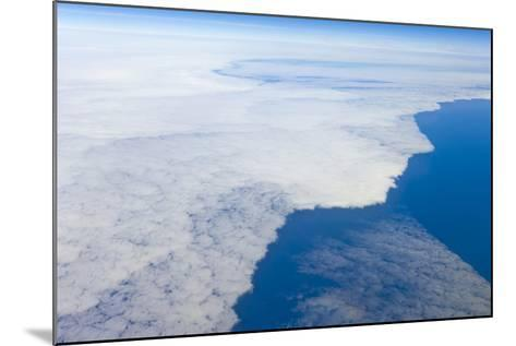 Aerial View of Clouds above Pacific Ocean near Chile-Momatiuk - Eastcott-Mounted Photographic Print