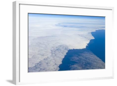 Aerial View of Clouds above Pacific Ocean near Chile-Momatiuk - Eastcott-Framed Art Print