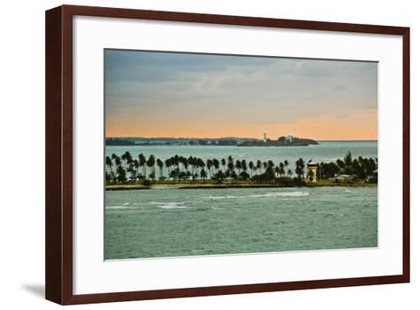 Sra and Old San Juan in Distance, Puerto Rico-Massimo Borchi-Framed Art Print
