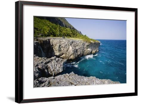 Coast of Samana Peninsula near Puerto El Fronton-Massimo Borchi-Framed Art Print