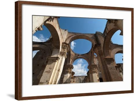 Arches in Old Cathedral Ruins in Antigua in Guatemala-Sergio Pitamitz-Framed Art Print