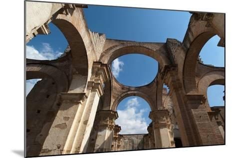 Arches in Old Cathedral Ruins in Antigua in Guatemala-Sergio Pitamitz-Mounted Photographic Print