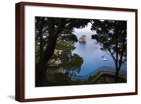 Faraglioni from Giardini (Gardens) Di Augusto, Capri, Capri Island, Campania, Italy-Massimo Borchi-Framed Art Print