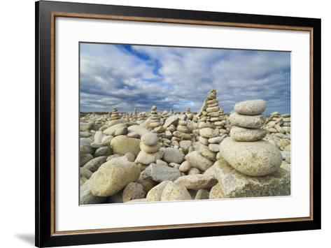 Rocks at Pebble Beach, Trebeurden, Cote De Granit Rose, Cote D'armor, Brittany, France-Frank Krahmer-Framed Art Print