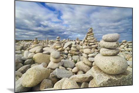 Rocks at Pebble Beach, Trebeurden, Cote De Granit Rose, Cote D'armor, Brittany, France-Frank Krahmer-Mounted Photographic Print