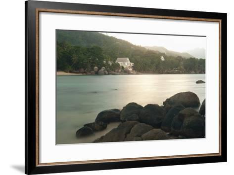 Baie Beau Vallon, Mahe, Seychelles, Indian Ocean Islands-Guido Cozzi-Framed Art Print