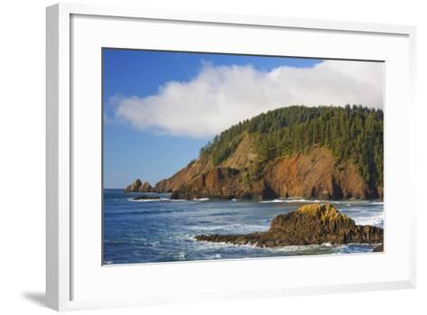 Afternoon Light along Short Beach and Indian Beach, Ecola State Park, Oregon Coast-Craig Tuttle-Framed Art Print