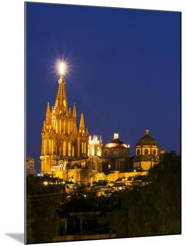 Evening Lights Parroquia Archangel Church San Miguel De Allende, Mexico-Terry Eggers-Mounted Photographic Print