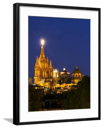 Evening Lights Parroquia Archangel Church San Miguel De Allende, Mexico-Terry Eggers-Framed Art Print