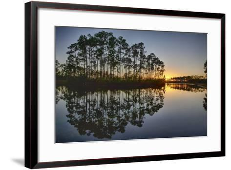 Sunset in Long Pine Area of Everglades NP-Terry Eggers-Framed Art Print