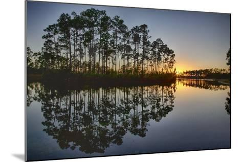 Sunset in Long Pine Area of Everglades NP-Terry Eggers-Mounted Photographic Print