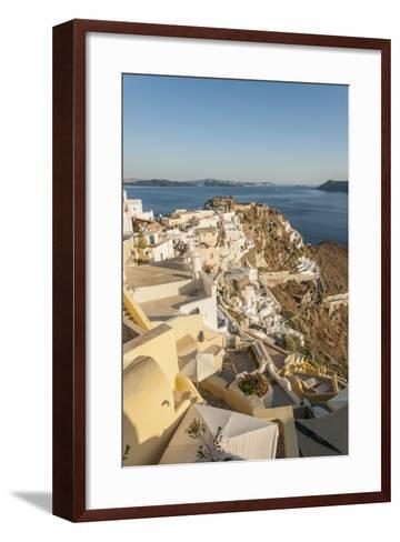 Oia, View of the Village-Guido Cozzi-Framed Art Print