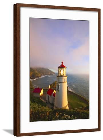 Heceta Head Lighthouse, Oregon Coast, Pacific Ocean, Pacific Northwest-Craig Tuttle-Framed Art Print