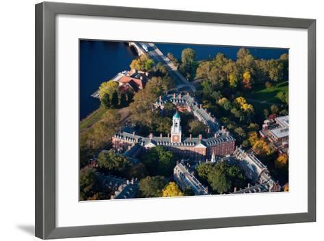Sunrise Aerials of Eliot House Clock Tower, Harvard, New England-Joseph Sohm-Framed Art Print