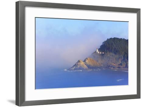 Fog Adds Beauty to Heceta Head Lighthouse, Oregon Coast, Pacific Ocean-Craig Tuttle-Framed Art Print