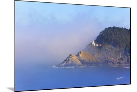 Fog Adds Beauty to Heceta Head Lighthouse, Oregon Coast, Pacific Ocean-Craig Tuttle-Mounted Photographic Print