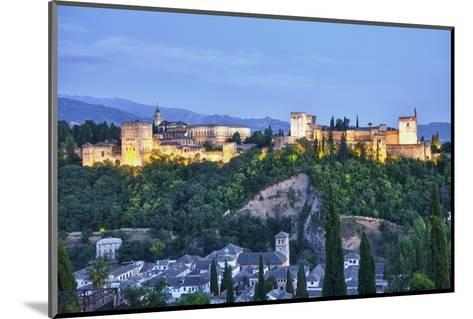 Evening Lights from the Alhambra Palace-Terry Eggers-Mounted Photographic Print