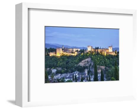 Evening Lights from the Alhambra Palace-Terry Eggers-Framed Art Print