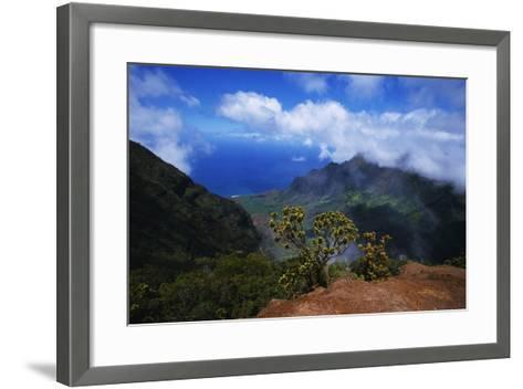 Hills along the Napali Coast-W^ Perry Conway-Framed Art Print