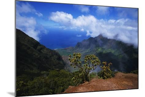 Hills along the Napali Coast-W^ Perry Conway-Mounted Photographic Print