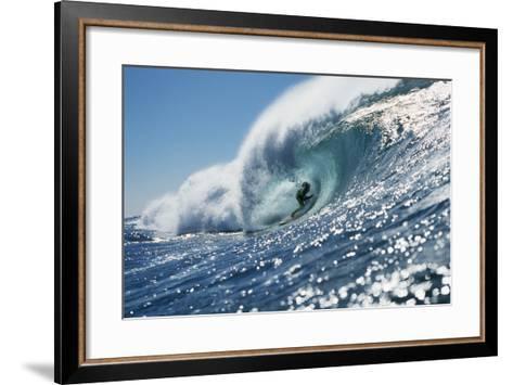 Surfer Riding a Wave-Rick Doyle-Framed Art Print
