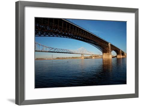 Eads Bridge on the Mississippi River, St. Louis, Missouri-Joseph Sohm-Framed Art Print
