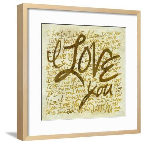 I love you-PI Studio-Framed Art Print